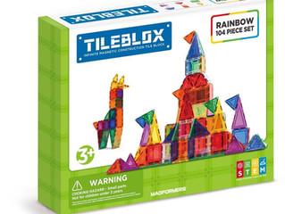 Magformer Tileblox, Rainbow 104 piece Set
