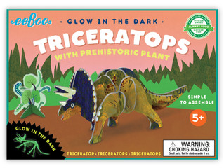 eeBoo 3-D DinosaursGlow in the Dark Triceratops Puzzles