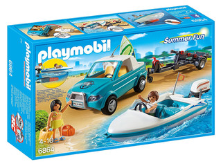Playmobil Summer Fun Surfer Pick up with Speedboat