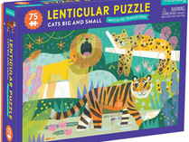 Mudpuppy Cats Big and Small Lenticular Puzzle