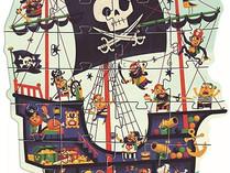 Djeco Pirate Ship Floor Puzzle, 36 Pieces
