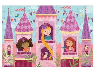 Mudpuppy Glitter Puzzle — Princess