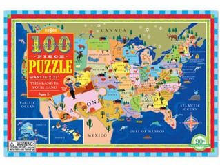 eeBoo This Land Is Your Land 100 Piece Puzzle