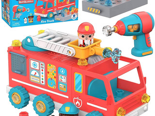 Educational Insights Design & Drill Kits: Rescue Helicopter, Police Motorcycle, and Firetruck