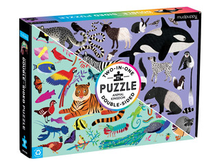 Mudpuppy Animal Kingdom 100-Piece Double Sided Puzzle