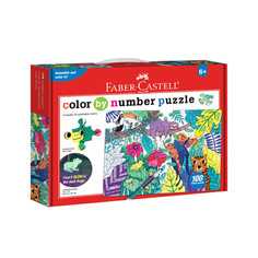 Creativity for Kids Color by Number Puzzles: Jungle Animals or Camping