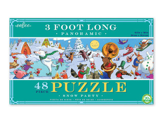 eeBoo Snow Party Floor Panoramic Puzzle