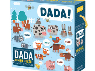 Mudpuppy Jimmy Fallon Dada Jumbo Floor Puzzle and Puzzle Pairs