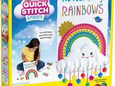 Creativity for Kids No Rain Quick Stitch Banner