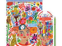 eeBoo Positivity Sketchbook and Fluorescent Pencils