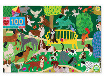 eeBoo Dogs at Play 100-Piece Puzzle