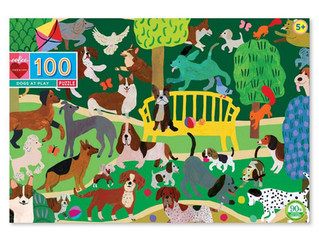 eeBoo Dogs at Play 100-Piece Puzzle