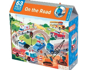 Mudpuppy On the Road 63 Piece Puzzle