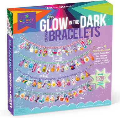 Craft-tastic Glow in the Dark Charm Bracelets