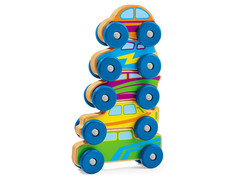 Lakeshore Stack and Roll Wooden Race Cars