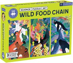 Mudpuppy Wild Food Chain Science Puzzle Set