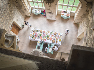 Delicious catering options at Woodchester Mansion