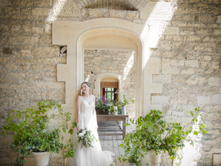 Spring wedding photo shoot at Woodchester Mansion