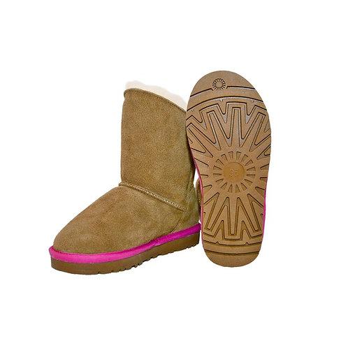 """Lammfell Boots """"Lara Pink"""""""