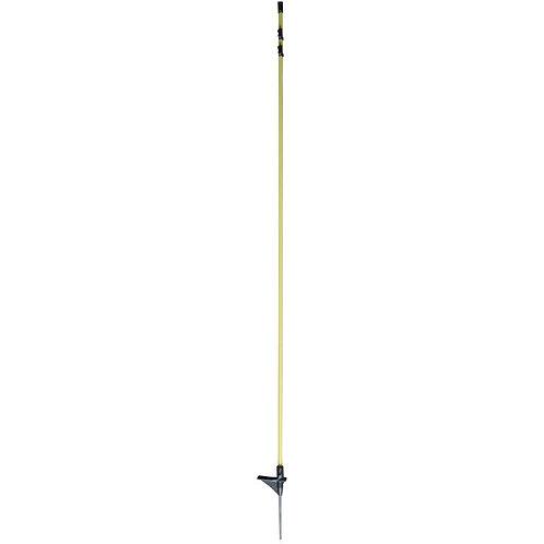 10er Pack Oval-Fiberglaspfahl mit Metallspitze 154cm