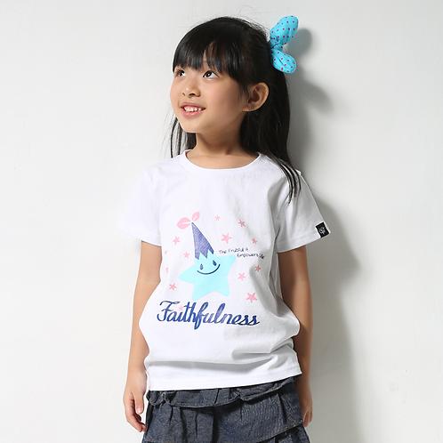 """童裝T恤""""Faithfulness""""白"""