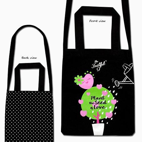 兩用帆布袋Tote Bag(黑色)