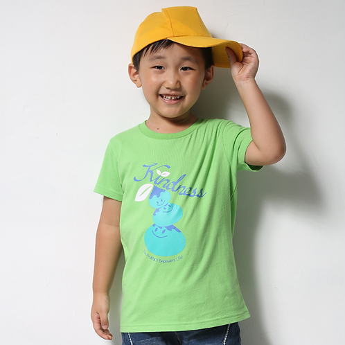 "童裝T恤""Kindness""綠"