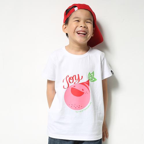 """童裝T恤""""Joy""""白"""