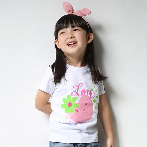 """童裝T恤""""Love"""" 白"""