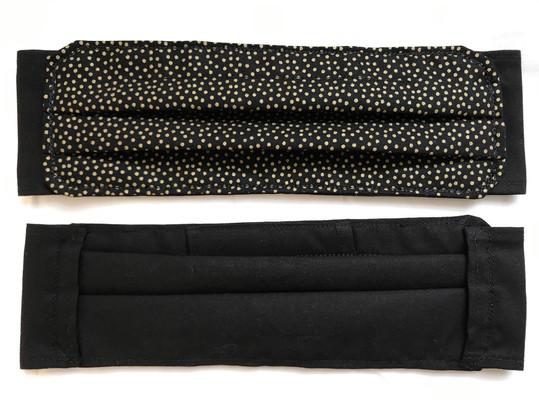 Golden dors on black (front and back)