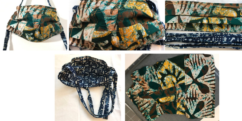 Mask with Ghanaian textile for Larry Sherman