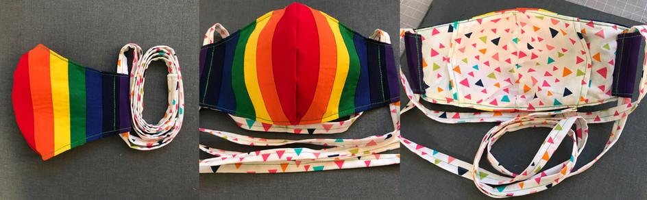 Rainbow mask (vertical)