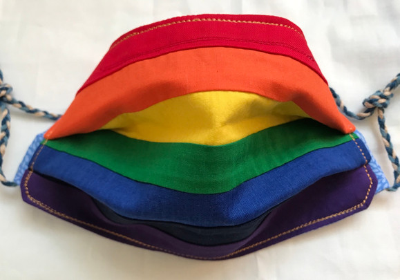 Rainbow mask (rectangular, front)