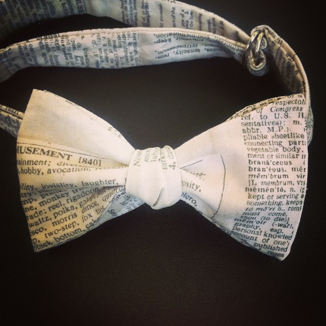 Facebook - For the #bibliophile & #logophile!  #bowties The Creative Studio www.