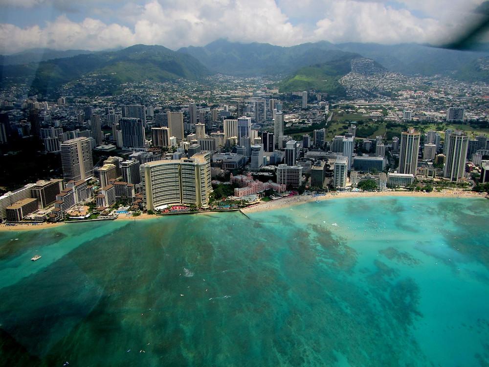 Waikiki, wyspa Oahu.