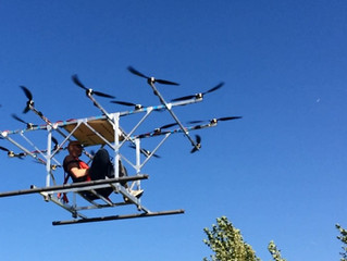 Sky-Hopper first manned flight!