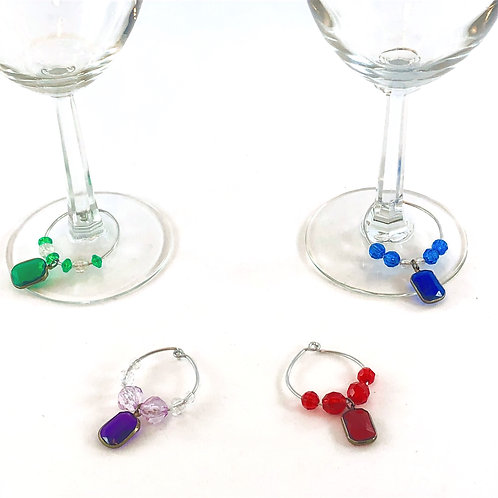 Happiness - Rainbow Wine Charms