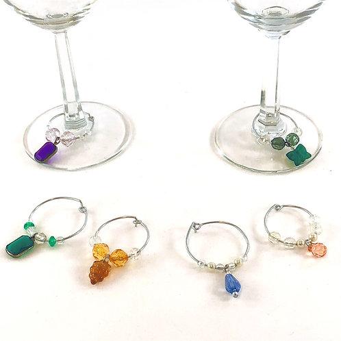 Thoughtfulness - Rainbow Wine Charms
