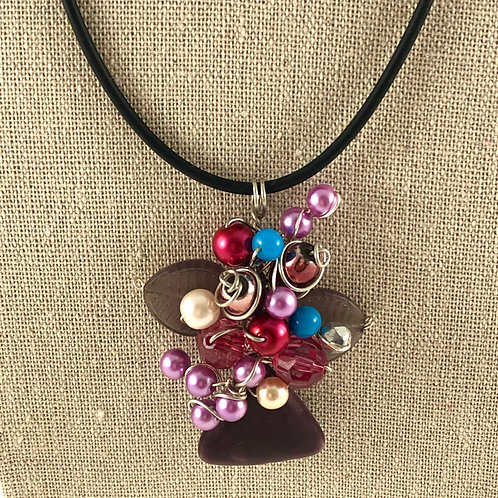 Flower Vase Necklace - Sweet Multi Bouquet