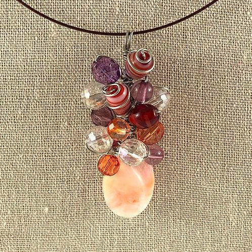 Flower Vase Necklace - Peach Dream