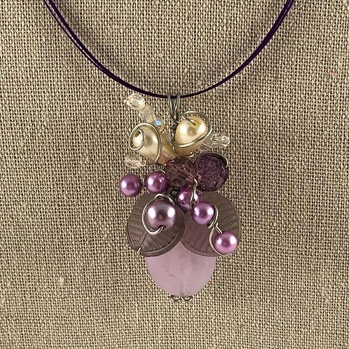 Flower Vase Necklace - Purple Haze