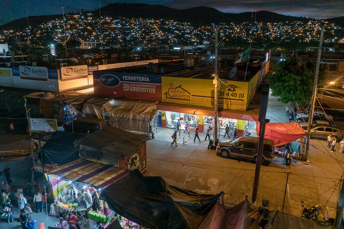 looking over Mercado de Abastos