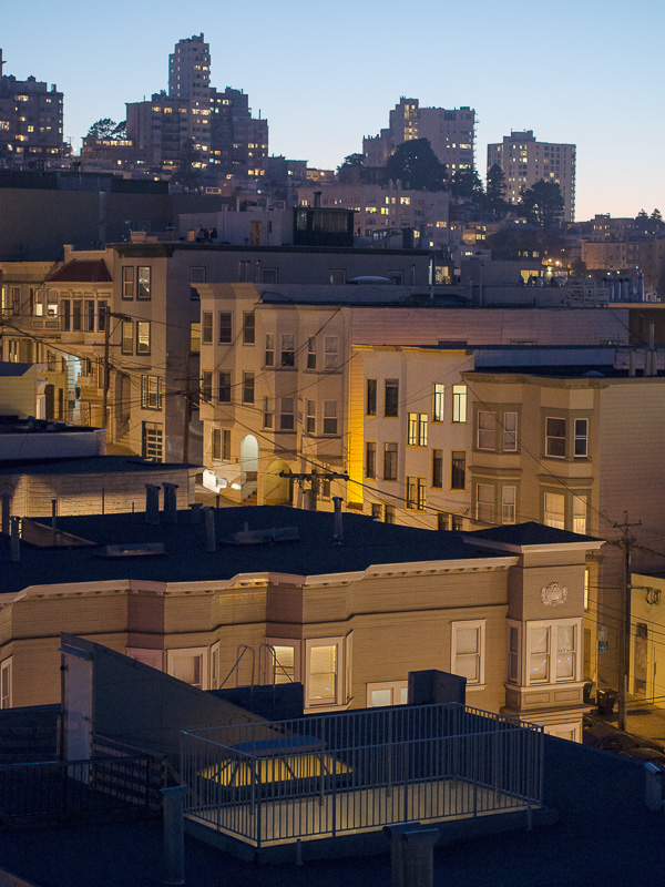looking west toward Russian Hill