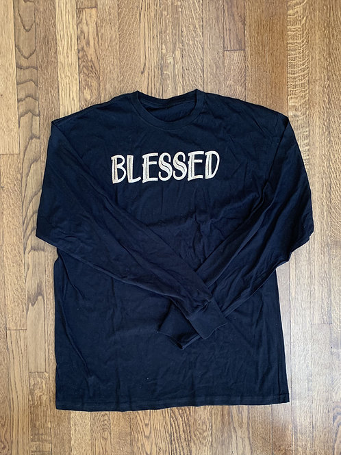 Extra Large Blessed Long Sleeve T-Shirt