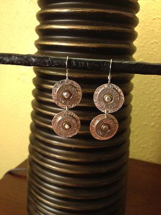 Annie Oakley Double Bullet Earrings
