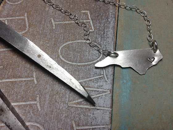 Sterling Silver NC Necklace