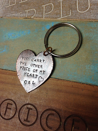 Large Heart Keychain