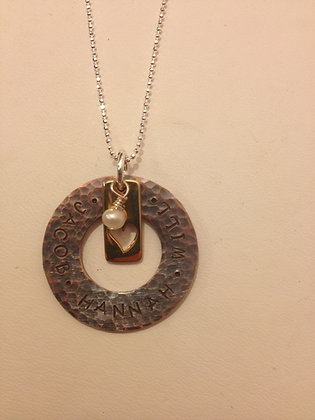 Jacob's Mom Bronze Heart Necklace