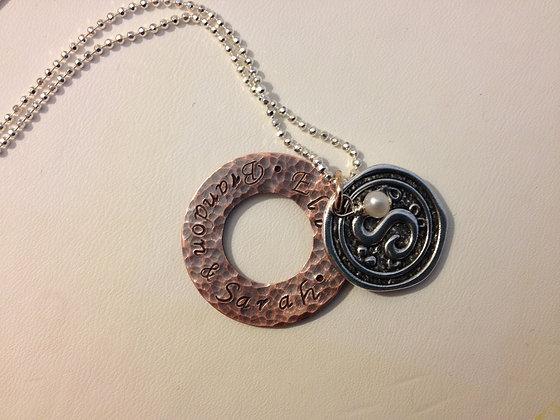 The Sarah Initial  Necklace