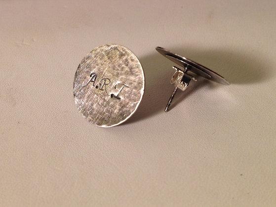 Monogrammed Sterling Silver Stud Earrings